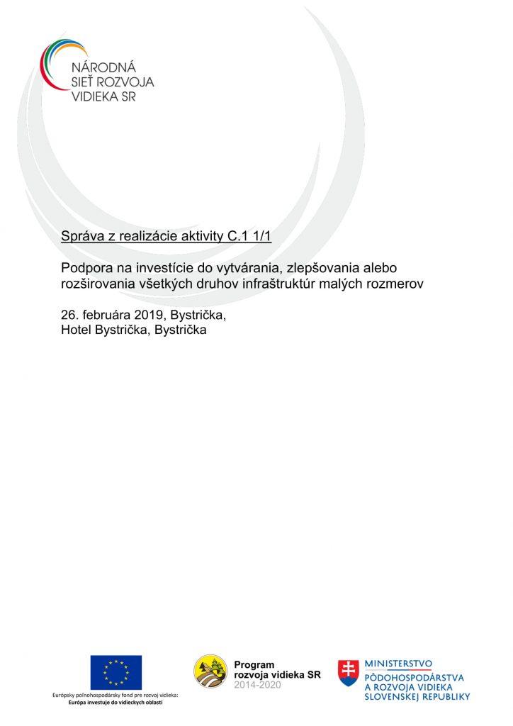 Správa C 1 1-1 ZA-1