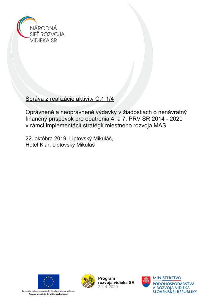 Správa C 1 1-4 ZA-1